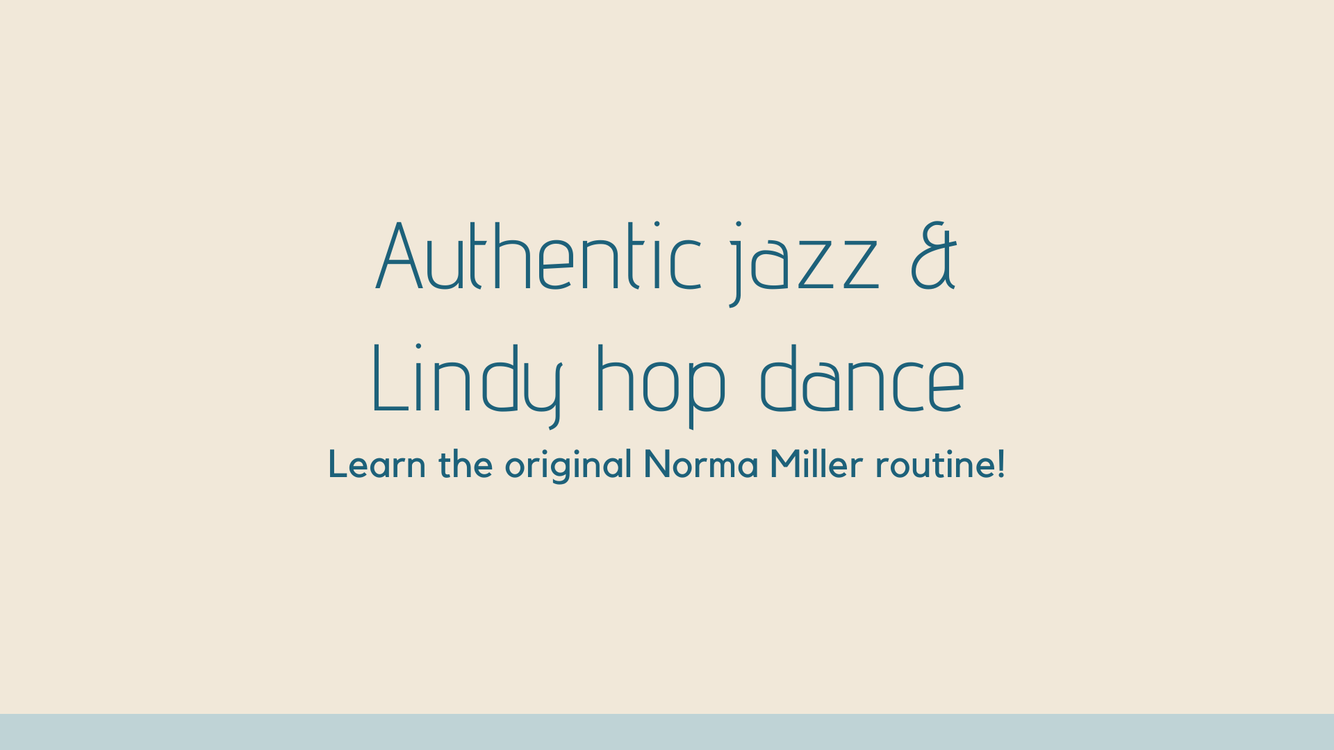 Learn the Norma Miller jazz & lindy hop vintage routine @ Hobnob
